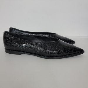 Freda Salvador Lisa Embossed Flats Black Size 9